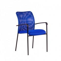 Konferenční židle TRITON BLACK - modrá