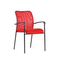 Konferenční židle TRITON BLACK - červená
