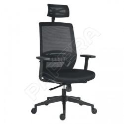 Židle kancelářská ABOVE černá látka / černá síť