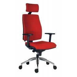 Židle kancelářská ARMIN 1880 SYN ALU PDH - červená
