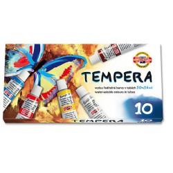Temperové barvy v tubě / 10 barev