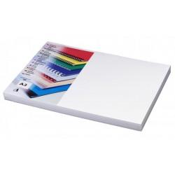 Desky pro vazbu A3, Chromolux, bílý leštěný karton