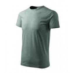 Tričko pánské BASIC tm.šedý melír