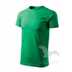 Tričko pánské BASIC středně zelené