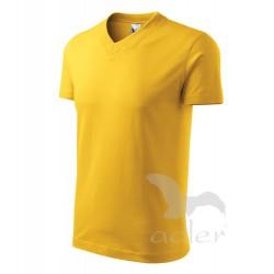 Tričko pánské V-NECK žluté