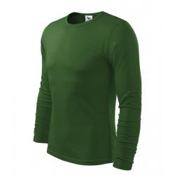 Triko pánské dlouhý rukáv FIT-T LONG SLEEVE lahvově zelené