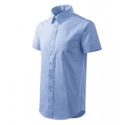 Košile pánská krátký rukáv SHIRT SHORT SLEEVE nebesky modrá