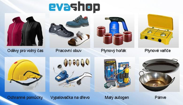 Evashop nářadí, ochranné pomůcky, plynové vyřiče, maly autogen, pracovní obuv